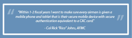 Helping the Air Force Bring Secure, Mobile Technology to the