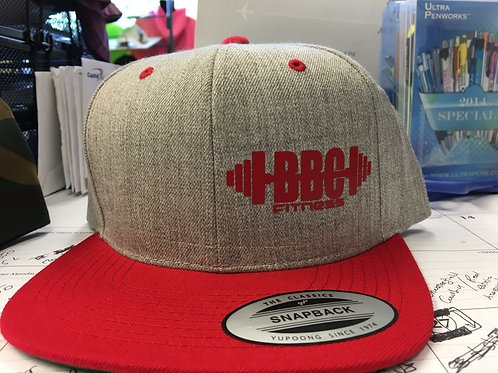 BBC Fitness Snapback (Grey/Red)
