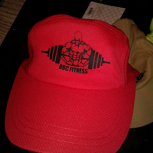 BBC FITNESS muscle man or BBCFITNESS logo dri fit hats