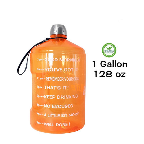 1gal Water bottle w/stainless steel top