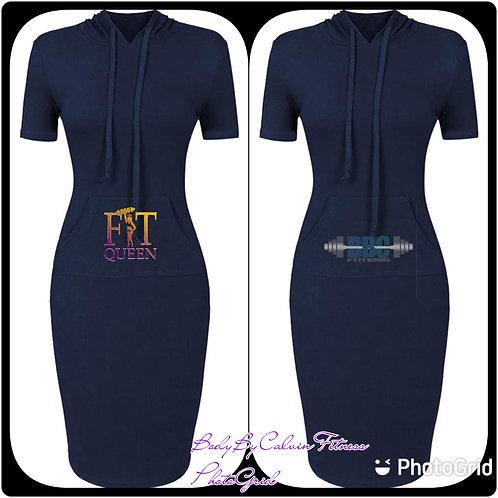 Knee Length Pocket Dress