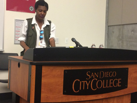 Wimbley gives Artist Talk at San Diego City College 3rd Annual Social Justice and Education Conferen