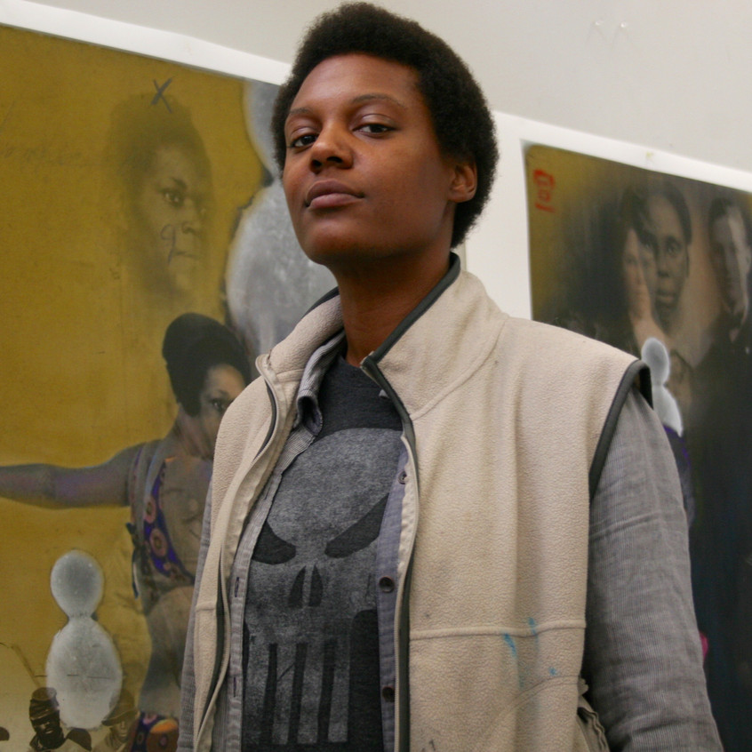 Me, my fro, and art.