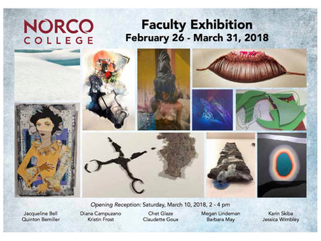 Upcoming Exhibition: Norco College Faculty Exhibition