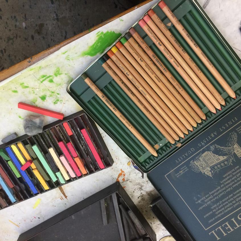 Pastels and Pastel pencils