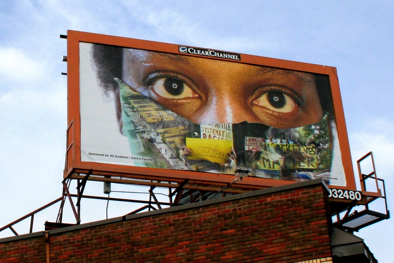 Masking: Testament, Nov. 2020 Social Justice Billboard Project