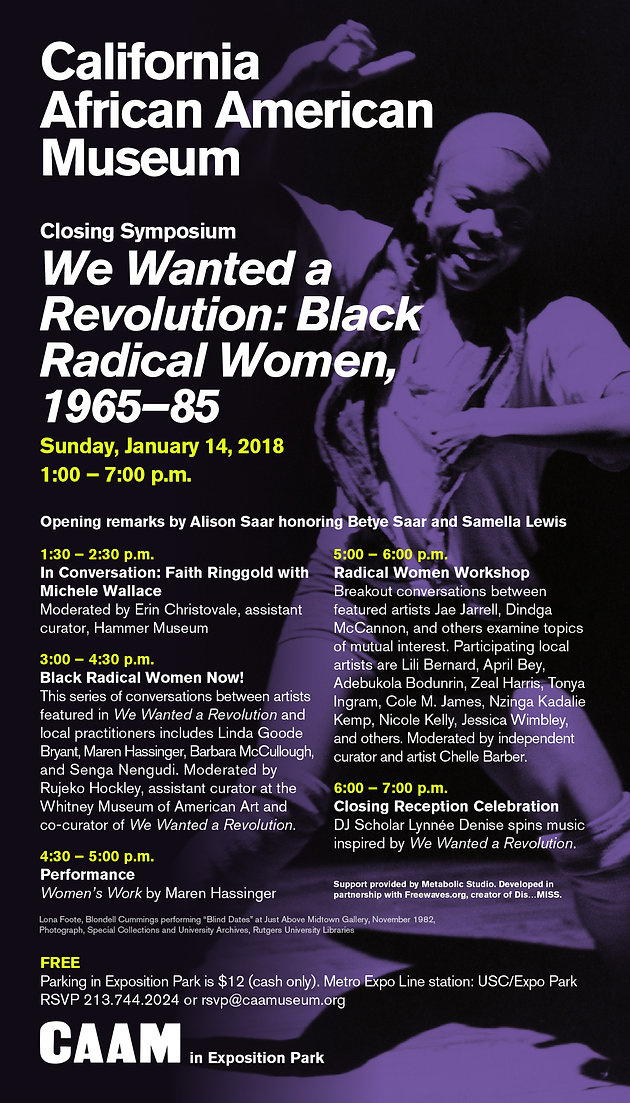 Closing Symposium: We Wanted a Revolution: Black Radical