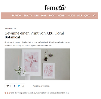 femelle X XIXI Florals contest collaboration