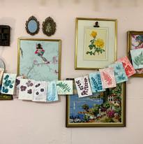 Workshop cards in display