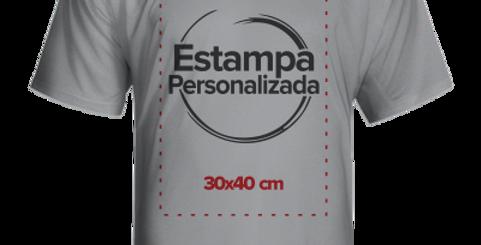 Camiseta Cinza Claro Personalizada