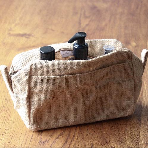 Natural Jute Toiletry / Cosmetic Bag