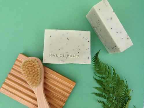 Large Coconut Cleansing Bar - Peppermint & Poppy