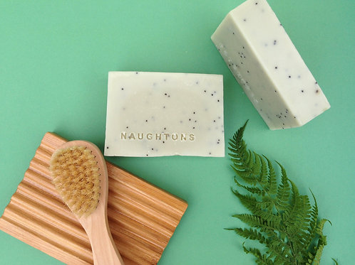 x 8 Coconut Cleansing Bar - Peppermint & Poppy