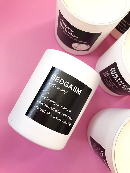 BEDGASM Luxury Hand Poured Coconut Candle