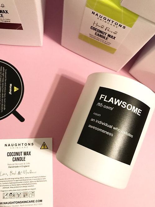 FLAWSOME Hand Poured Coconut Candle