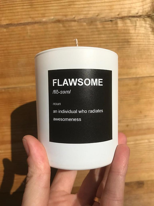 FLAWSOME Luxury Hand Poured Coconut Candle