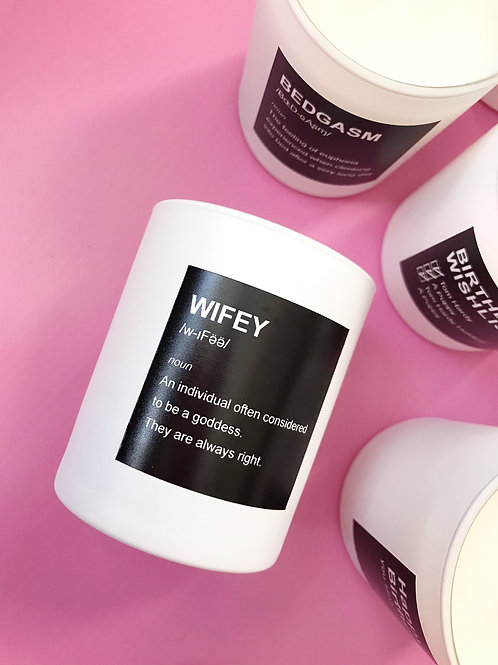WIFEY Luxury Hand Poured Coconut Candle x 5