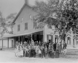 Meeting House with Congregation