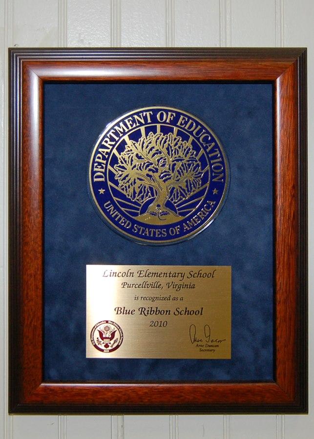 Blue Ribbon School award