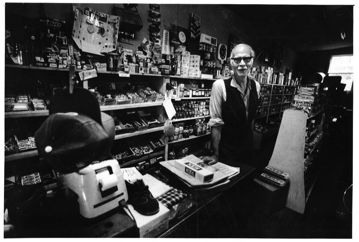 Asa Moore in Janney's Store - 1970s