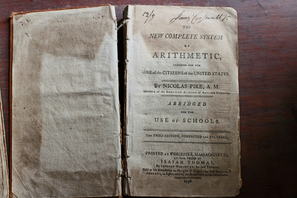 An arithmetic book from 1798