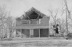 Brick Meeting House after storm