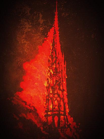 Spire Fire: Paris is Burning
