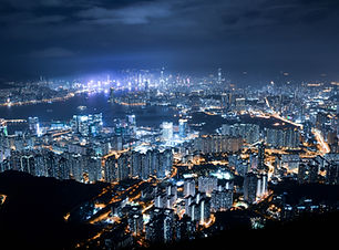 pollution over a city at night