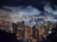a polluted city at night