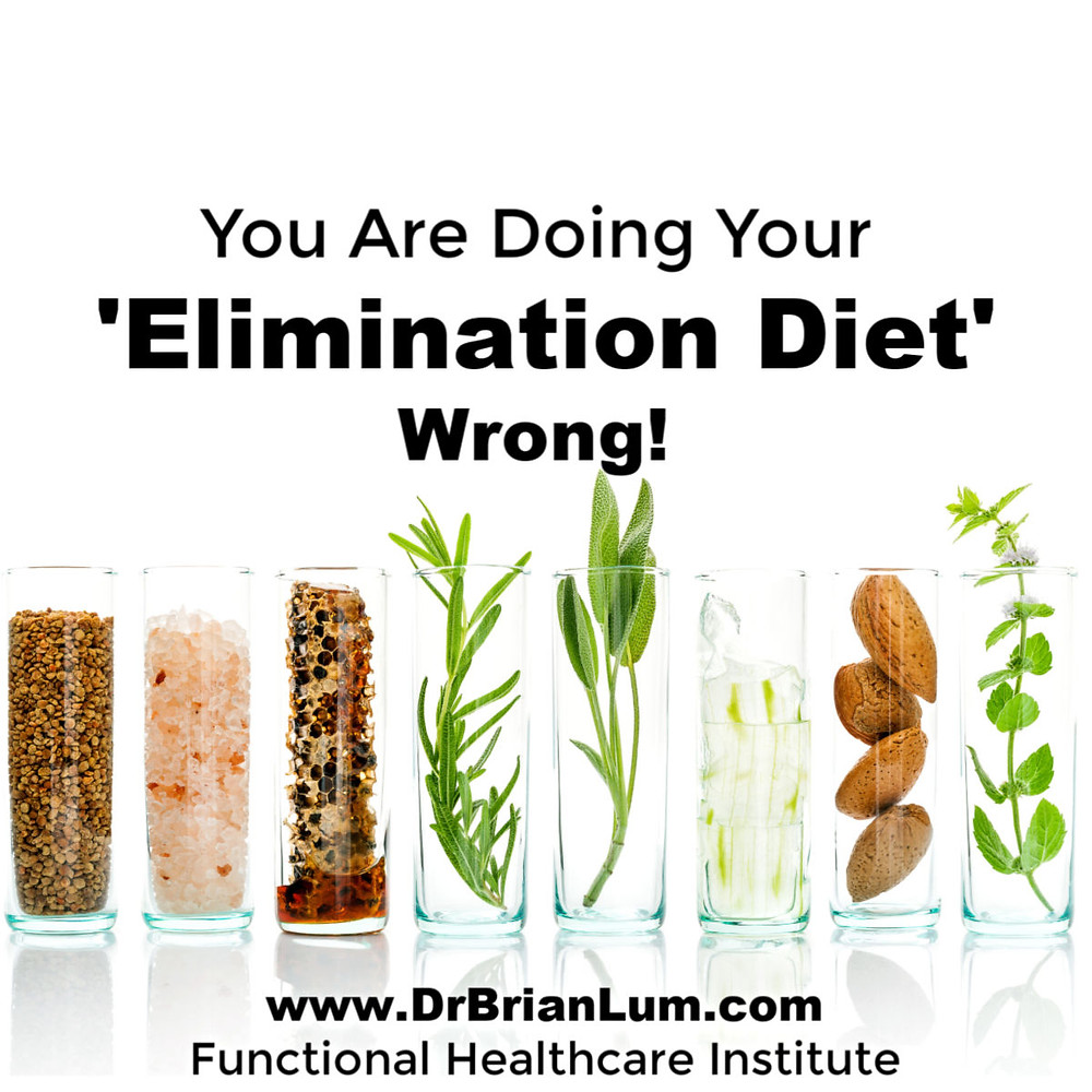 vials with food ingredients. text overlay that says you are doing your elimination diet wrong!