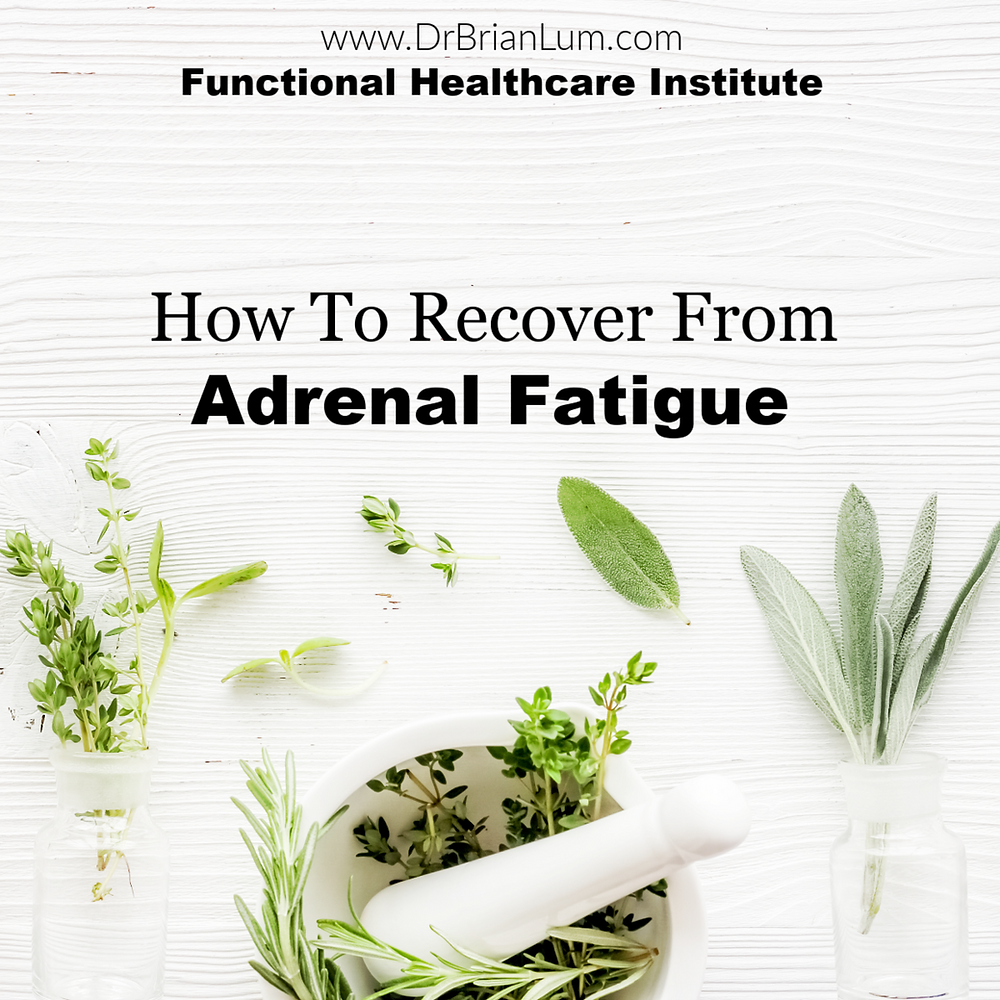 Medicinal plants with text overlay www.drbrianlum.com Functional Healthcare Institute How To Recover From Adrenal Fatigue