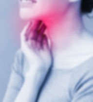 women with thyroid gland inflamed