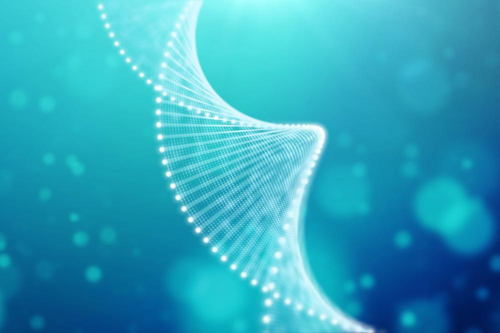 artist rendering of dna helix