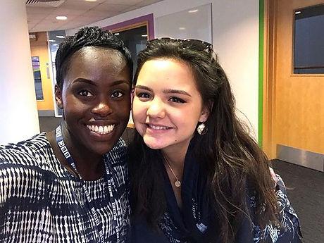 Meeting with the legendary Aminata @amin