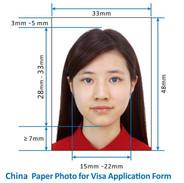 çin vize si için fotoğraf(photo for visa