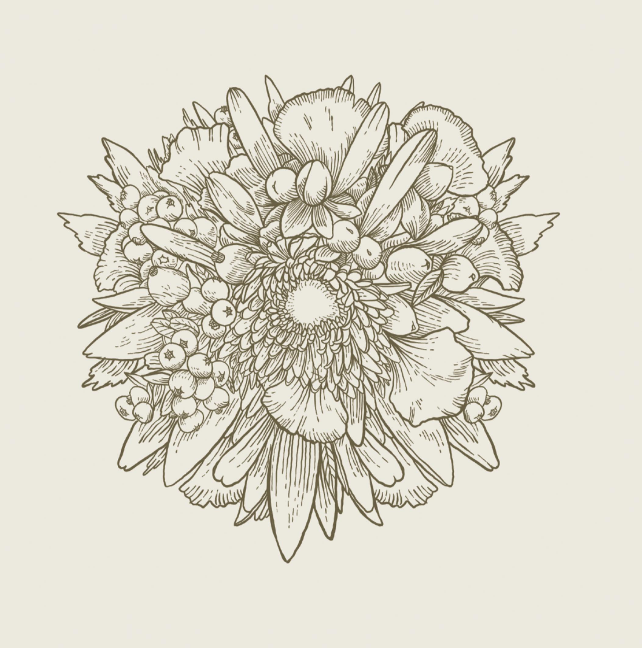 Ilustración de una flor