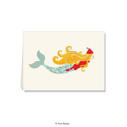 Merry Mermaid Folded Note