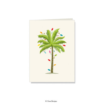 Holiday Palm Folded Note