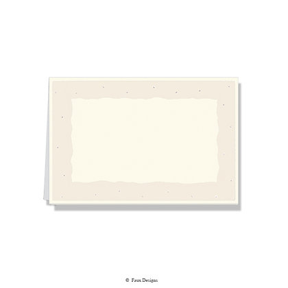 Pearl w/ Ivory Dots on Ivory Folded Note