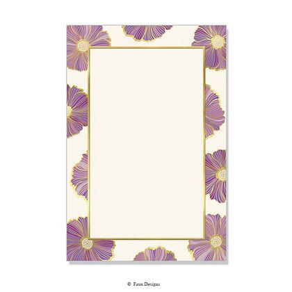 Primrose Purple Invitation - Blank
