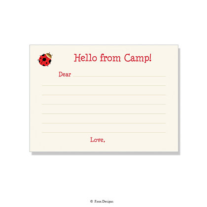 Ladybug Fill-in Camp Note