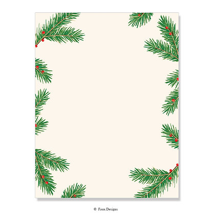 Holiday Pine 8.5 x 11 Sheet
