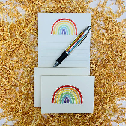 Rainbow Memo Pad & Folded Note Set