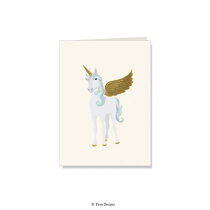 Unicorn Folded Note
