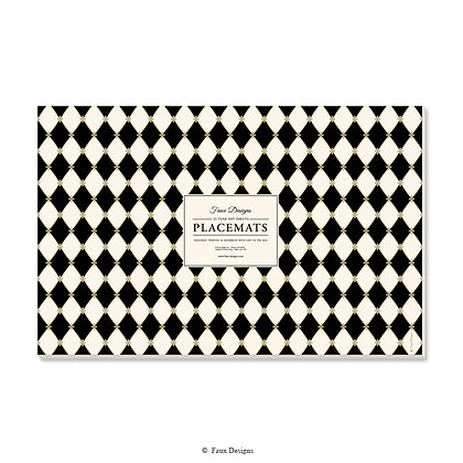 Diamond Black Placemat