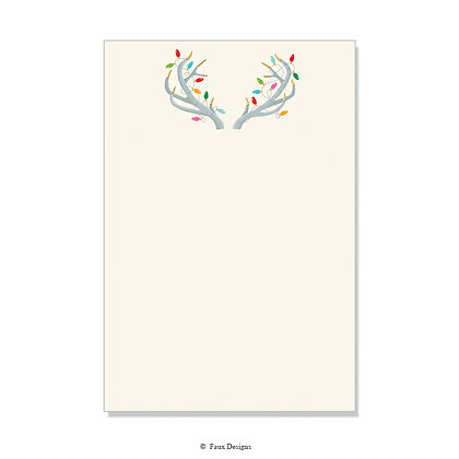 Holiday Antlers Invitation - Blank