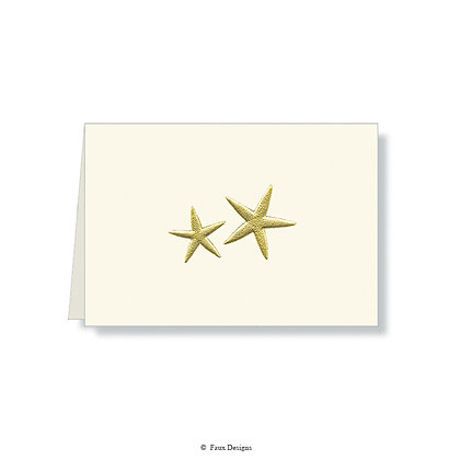 Starfish Folded Note