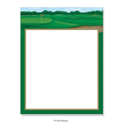 Golf Fairway 8.5 x 11 Sheet