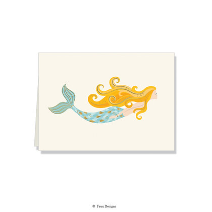 Mermaid Folded Note