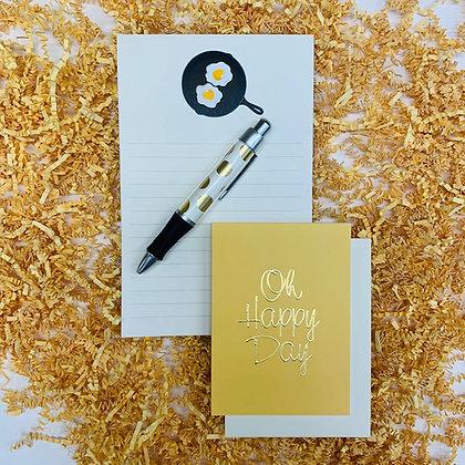 Sunnyside Up Memo Pad & Folded Note Set